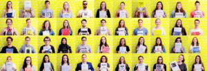 overzicht portretten studenten communicatiemanagement aan howest die hun bachelorproef indienden in juni 2018