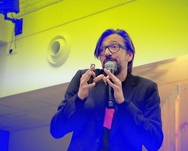 image taken on let's talk generations of joeri van den bergh keynote speaker