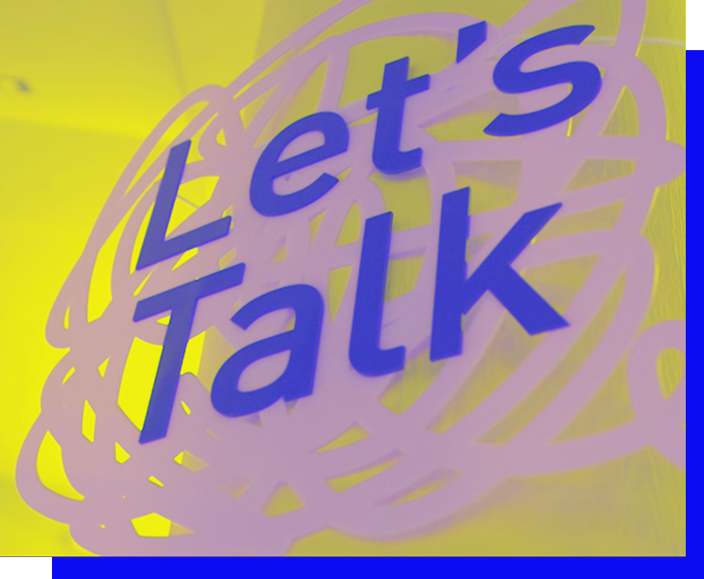 logo van let's talk een event georganiseerd door de opleiding communicatiemanagement van howest