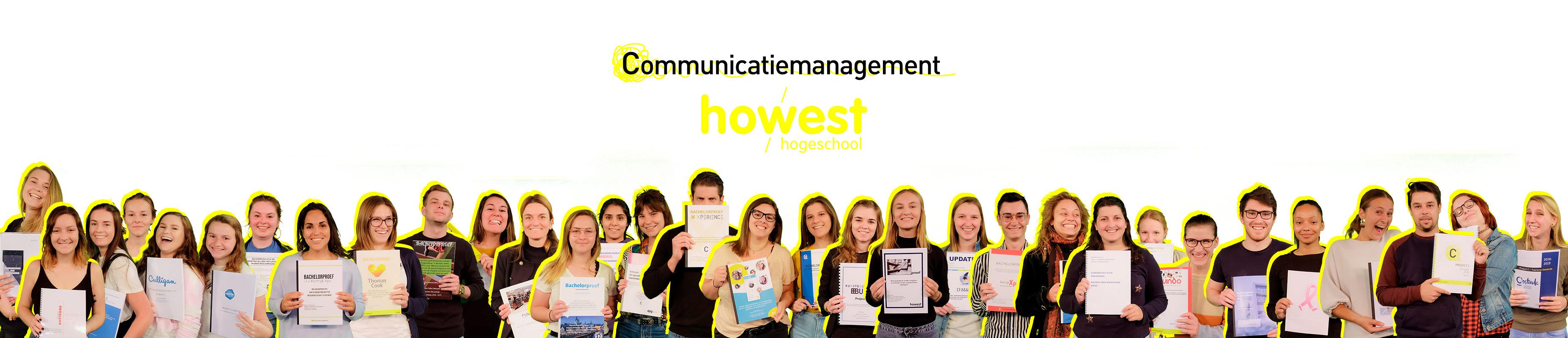 portretten track c derdejaars communicatiemanagement en track C studenten van Howest, hogeschool West-Vlaanderen campus Kortrijk