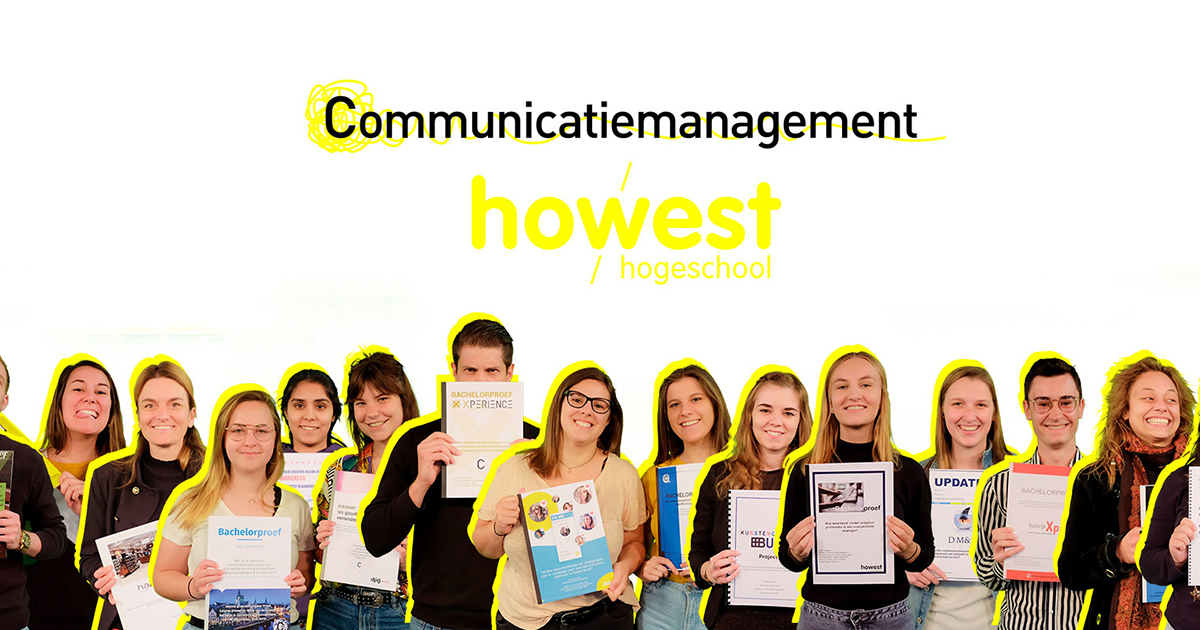 portretten derdejaars communicatiemanagement en track C studenten van Howest, hogeschool West-Vlaanderen campus Kortrijk