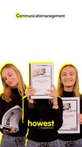 Portret van Laura Vuylsteke student bij de opleiding Communicatiemanagement van Howest Hogeschool West-Vlaanderen in Kortrijk