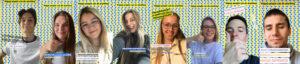 de lichting afstuderende derdejaars studenten communicatiemanagement aan howest van 2020
