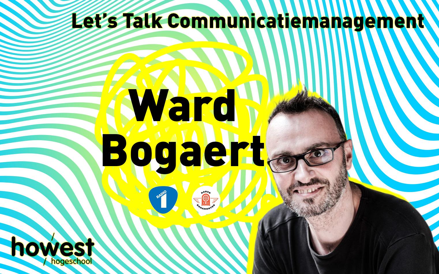 Foto van meesterverteller Ward Bogaert voor Let's Talk Communicatiemanagement aan Howest